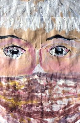 3. fruehling porträt mit maske